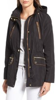 MICHAEL Michael Kors Women's Faux Leather Trim Anorak
