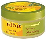 Alba Hawaiian Coconut Milk Body Cream, 6.5 Ounce (Pack of 6)
