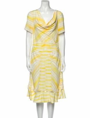 Altuzarra Lucia Midi Length Dress w/ Tags Yellow