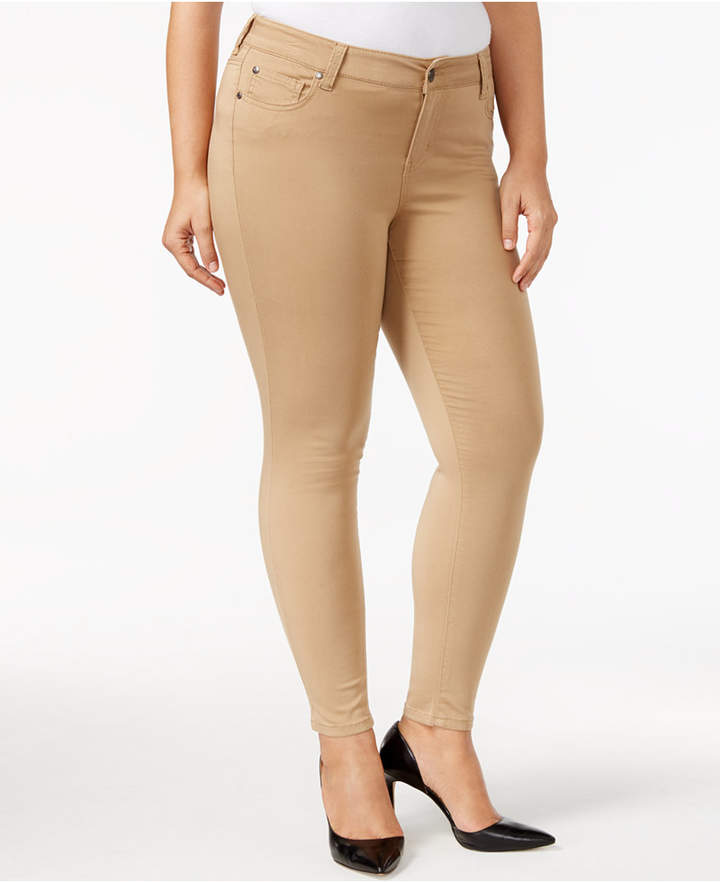 Celebrity Pink Trendy Plus Size Colored Skinny Jeans