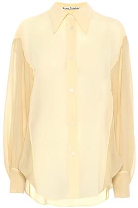 Acne Studios Crepe chiffon shirt