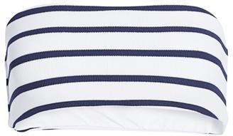 Eberjey Swim Retro Stripes Summer Bandeau Bikini Top