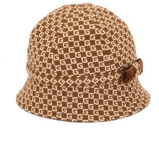 Gucci Kids Logo-Pattern Hat