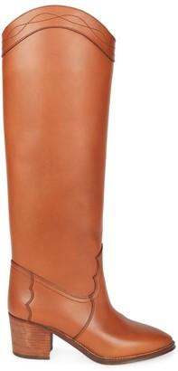 Saint Laurent Kate Leather Western Boots