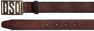 DSQUARED2 30mm Dsq Plaque Leather Belt
