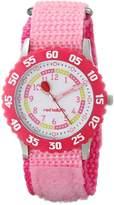 Red Balloon Kids' W000175 Pink Velcro Stainless Steel Time Teacher Watch