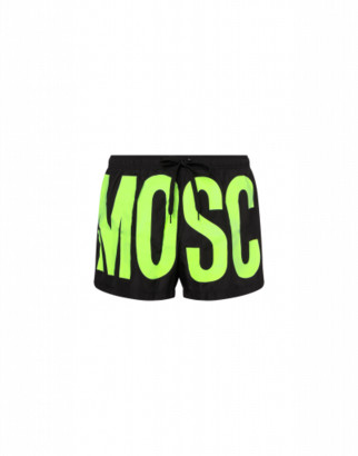 Moschino Maxi Logo Fluo Beach Boxer Man Yellow Size L It - (m Us)