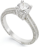 Giani Bernini Sterling Silver Cubic Zirconia Engagement Ring (1-1/10 ct. t.w.) Size 5-8