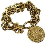 Chanel Gold-Tone Metal Triple Chain Bracelet