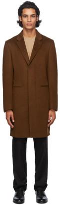 Ermenegildo Zegna Brown Cashmere Overcoat