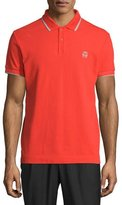 McQ by Alexander McQueen Short-Sleeve Polo Shirt w/Contrast Piping, Blaze Red