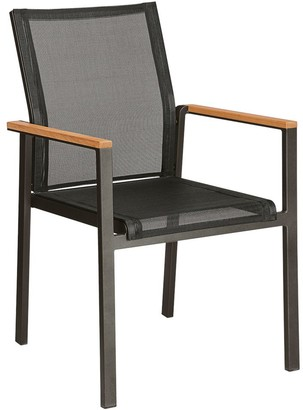 Barlow Tyrie Aura Garden Dining Armchair, FSC-Certified (Teak Wood), Graphite/Charcoal