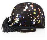 Loeffler Randall Dome Splatter Paint Leather Crossbody Bag