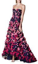 Marchesa Heart & Floral Motif Gown