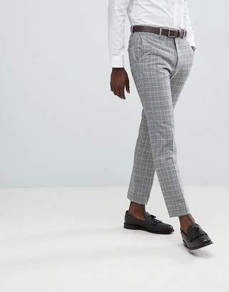 French Connection Heritage Prince Of Wales Check Slim fit Suit Trousers-Grey