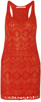 Diane von Furstenberg Chios macramé cotton-blend dress