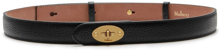 Mulberry Darley Belt Black Natural Grain Leather
