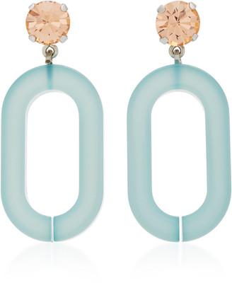 Rachel Comey Celeste Rhinestone and Acrylic Earrings