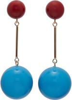 J.W.Anderson Blue and Burgundy Sphere Earrings
