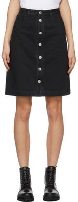 A.P.C. Black Denim Therese Miniskirt