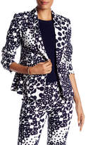 Trina Turk Notch Lapel Single Button Print Blazer