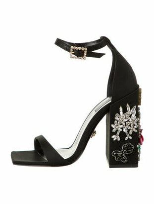 Versace 2019 Acid Bloom Sandals w/ Tags Black