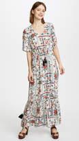 Ella Moon Ruffle Hem Maxi Dress
