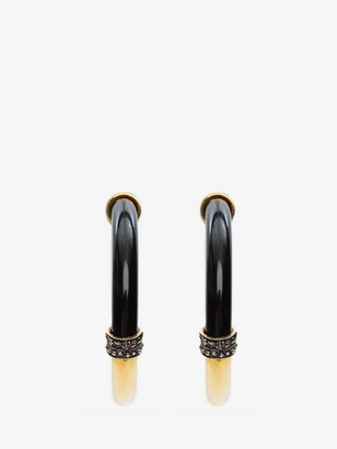 Alexander McQueen Resin Hoop Earrings