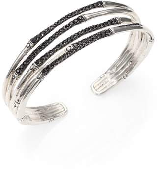 John Hardy Bamboo Black Sapphire & Sterling Silver Four-Band Narrow Bracelet