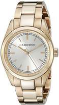 Cabochon Women's 521 De Ce Monde Analog Display Swiss Quartz Rose Gold Watch
