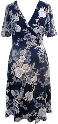 Sandra Darren Short Flutter Sleeve Fit & Flare Dress