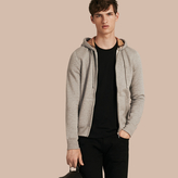 Burberry Hooded Cotton Jersey Top , Size: L, Grey