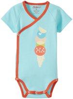 Zutano Sugar Cone Wrap Bodysuit (Baby) - Aqua - New Born
