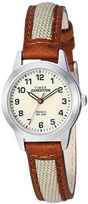 Timex Women's TW4B11900 Expedition Field Mini Nylon/Leather Strap Watch
