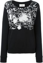 Saint Laurent printed sweatshirt