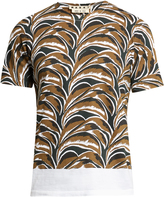 Marni Abstract leaf-print round-neck T-shirt