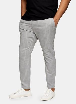 Topman BIG Grey Stripe Jogger Trousers*