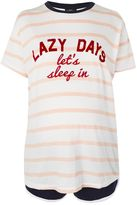 Topshop MATERNITY Lazy Days Stripe Pyjama Set