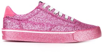 Diesel low-top glitter sneakers