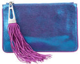 Brian Atwood Embossed Suede Wyatt Clutch