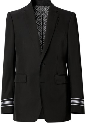 Burberry Classic Fit stripe-detail jacket