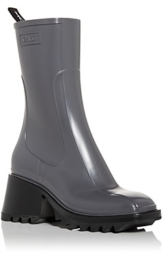 Chloé Women's Betty Block Heel Platform Rain Boots