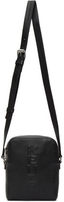 Kenzo Black Leather Logo Crossbody Bag