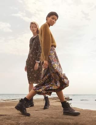 Per Una Per UnaMarks and Spencer Satin Floral Print Wrap Midi Skirt