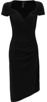 Norma Kamali Sweetheart-neckline Jersey Dress - Black