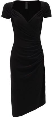 Norma Kamali Sweetheart-neckline Jersey Dress - Womens - Black