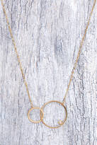 Tai Double Circle Sparkle Necklace