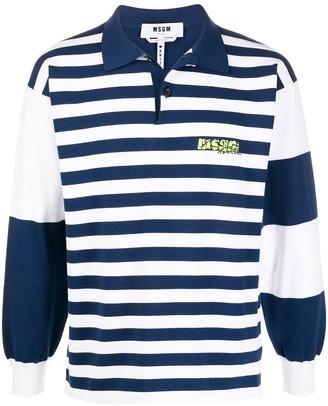MSGM Striped Rugby Shirt