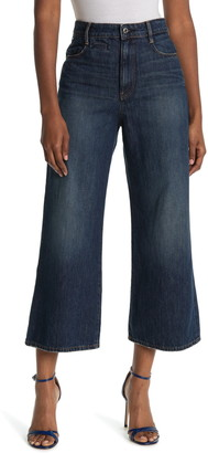 G Star High Rise Wide Leg Jeans