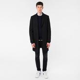 Paul Smith Men's Black Wool-Cashmere Overcoat